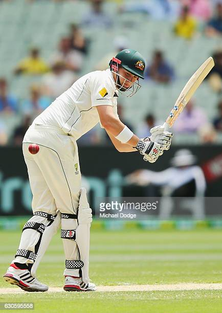 Matthew Renshaw of Australia bats during day three of the Second Test match between Australia and Pakistan at Melbourne Cricket Ground on December 28...