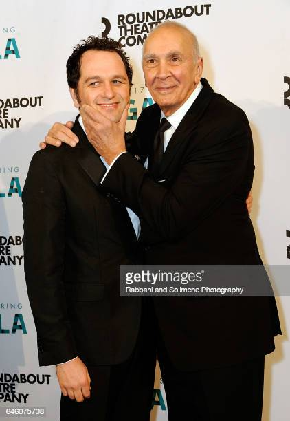 Matthew Rhys and Frank Langella attend the Roundabout Theatre Company's 2017 Spring Gala at The Waldorf=Astoria on February 27 2017 in New York City