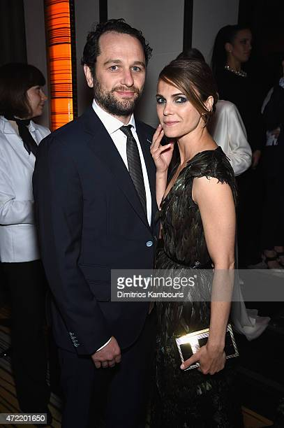Matthew Rhys and Keri Russell attend Michael Kors and iTunes After Party at The Mark Hotel on May 4 2015 in New York City