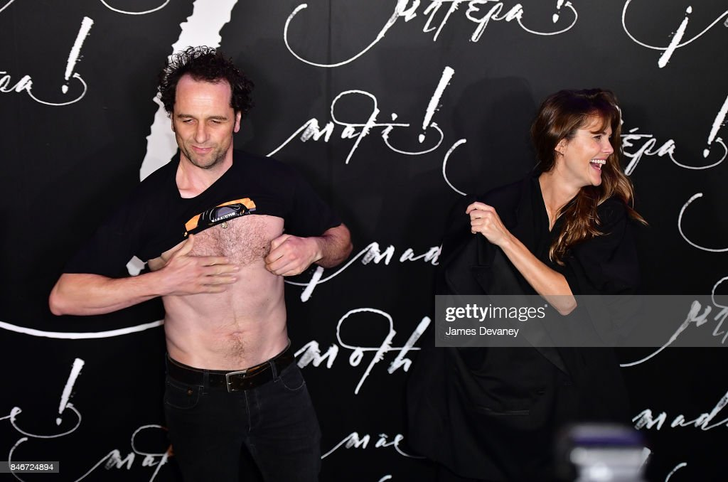 Matthew Rhys and Keri Russell attend 'mother!' New York premiere at Radio City Music Hall on September 13, 2017 in New York City.