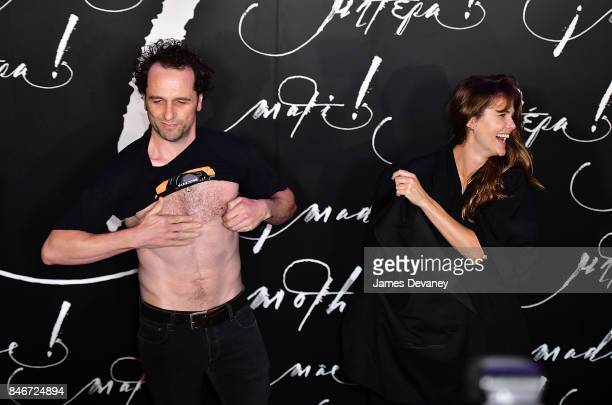 Matthew Rhys and Keri Russell attend 'mother' New York premiere at Radio City Music Hall on September 13 2017 in New York City