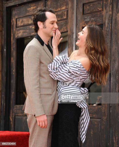 Matthew Rhys and Keri Russell attend Russell's induction into the Hollywood Walk of Fame on May 30 2017 in Hollywood California