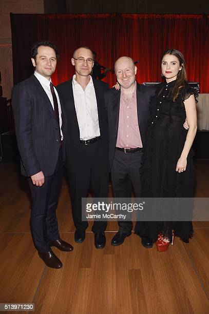 Matthew Rhys Joseph Weisberg Joel Fields and Keri Russell attend the 'The Americans' season 4 premiere on March 5 2016 in New York City