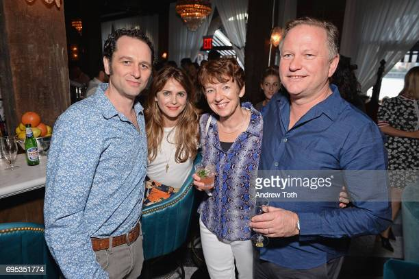 Matthew Rhys Kerri Russell Dawn Airey and Nick Jones attend the Cecconi's Dumbo Opening Party hosted by Nick Jones Soho House on June 12 2017 in the...