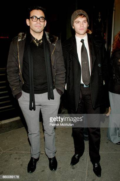 Matthew Risch and Van Hansis attend Opening Night of HEDDA GABLER Arrivals and After Party at American Airlines Theatre on January 25 2009 in New...