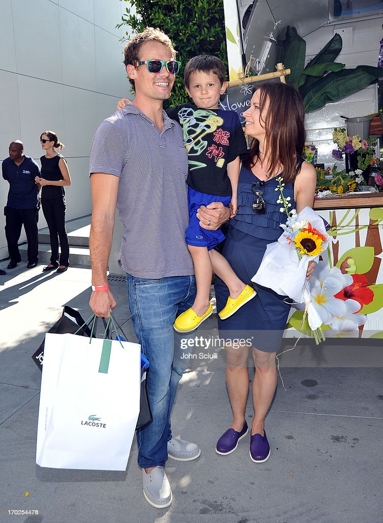 Matthew Rolph, Valentine Anthony Rolph, and Mary Lynn Rajskub attend the 1st Annual Children Mending Hearts Style Sunday on June 9, 2013 in Beverly Hills, California.