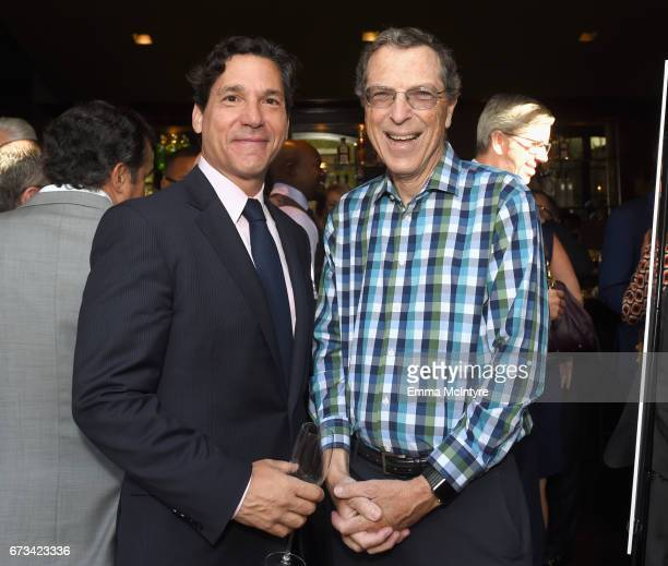 Matthew Rosengart and Harold Brown attend The Hollywood Reporter Power Lawyers Breakfast 2017 at Spago on April 26 2017 in Beverly Hills California