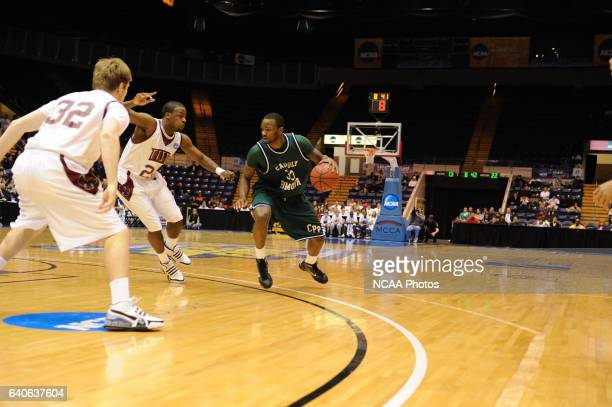 Matthew Rosser of Indiana University attempts to cut off penetration by Donnelle Bookers of Cal Poly Pomona in first half action during the Division...