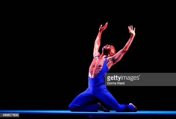Matthew Rushing performs during the Alvin Ailey American Dance Theater New York City Season Dress Rehearsals for 'Love Songs' at New York City Center...