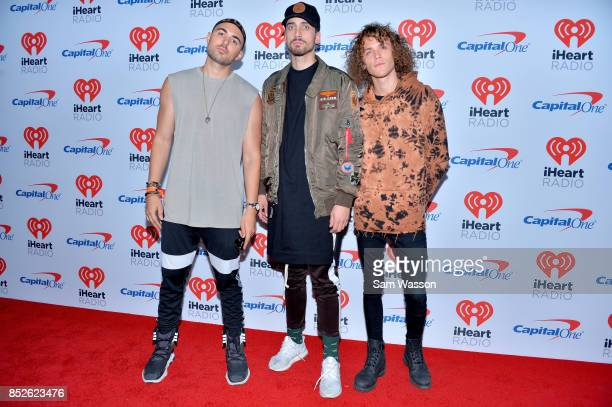 Matthew Russell KEVI and Trevor Dahl of Cheat Codes attend the 2017 iHeartRadio Music Festival at TMobile Arena on September 23 2017 in Las Vegas...