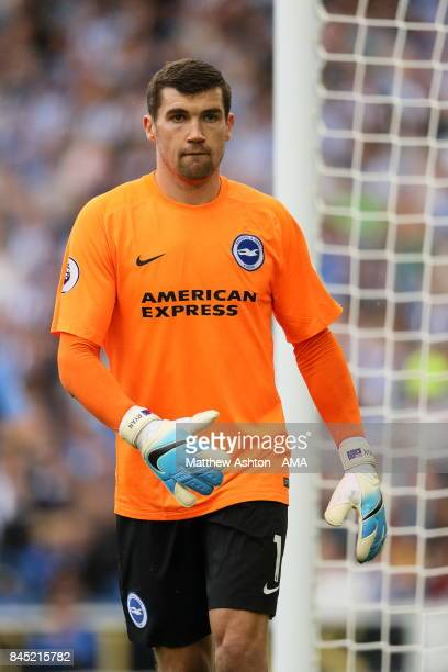 Matthew Ryan of Brighton and Hove Albion during the Premier League match between Brighton and Hove Albion and West Bromwich Albion at Amex Stadium on...