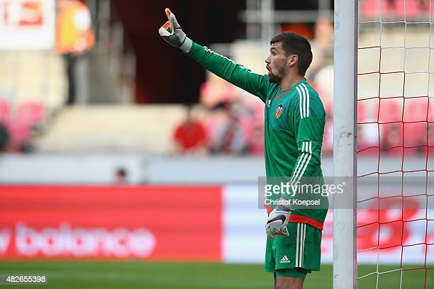 Matthew Ryan of Valencia shouts during the Colonia Cup 2015 match between FC Valencia and FC Porto at RheinEnergieStadion on August 1 2015 in Cologne...