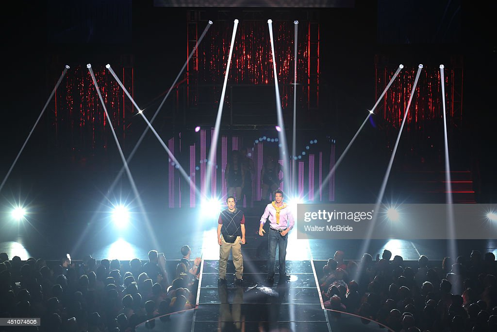 Matthew Saldivar and Joey Taranto perform in the Broadway Cares/Equity Fights AIDS' Broadway Bares 24 'Rock Hard!' at Hammerstein Ballroom on June 22, 2014 in New York City.