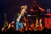 Matthew Schultz of Cage the Elephant performs at Deck the Hall Ball at KeyArena on December 8 2015 in Seattle Washington