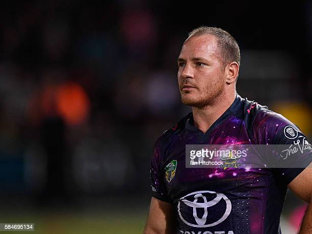 Matthew Scott of the Cowboys looks on during the round 21 NRL match between the North Queensland Cowboys and the Melbourne Storm at 1300SMILES...