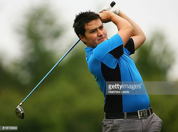 Matthew Sellors tees off from the 1st tee during the Powerade PGA Assistant's Championship North Region Qualifier at Knaresborough Golf Club on July...