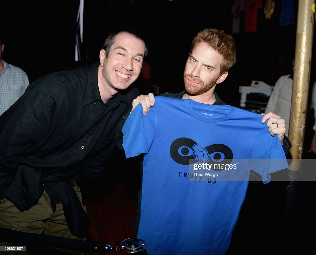Matthew Senreich and <a gi-track='captionPersonalityLinkClicked' href=/galleries/search?phrase=Seth+Green&family=editorial&specificpeople=206390 ng-click='$event.stopPropagation()'>Seth Green</a> attend the Adult Swim Upfront Party 2013 at Roseland Ballroom on May 15, 2013 in New York City. 23698_002_0023.JPG