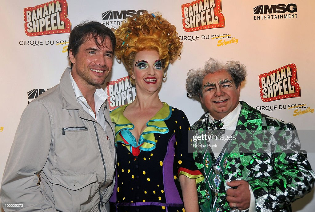 Matthew Settle, Shereen Hickman and Danny Rutigliano attend the opening night of Cirque du Soleil's 'Banana Shpeel' at the Beacon Theatre on May 19, 2010 in New York City.