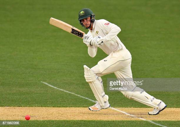 Matthew Short of CA XI bats during day two of the Four Day Tour match between the Cricket Australia XI and England at Adelaide Oval on November 9...