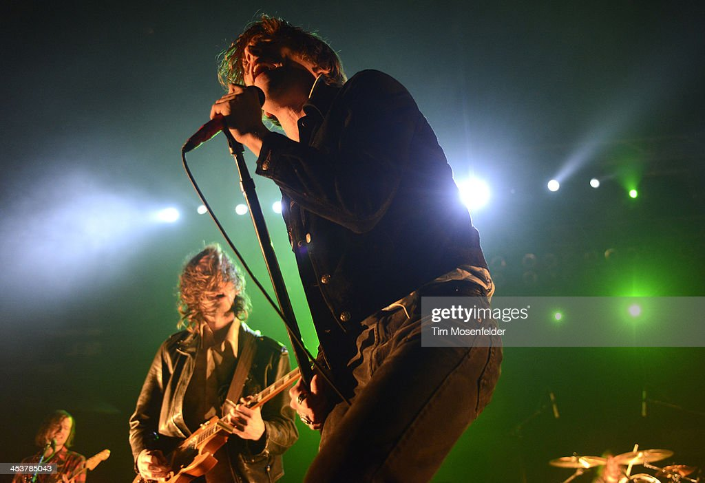 Matthew Shultz of Cage the Elephant performs as part of Radio 94.7's Electric Christmas at Sleep Train Arena on December 4, 2013 in Sacramento, California.