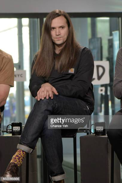 Matthew Simms of Wire attends Build series to discuss the new album 'Silver/Lead' at Build Studio on September 29 2017 in New York City