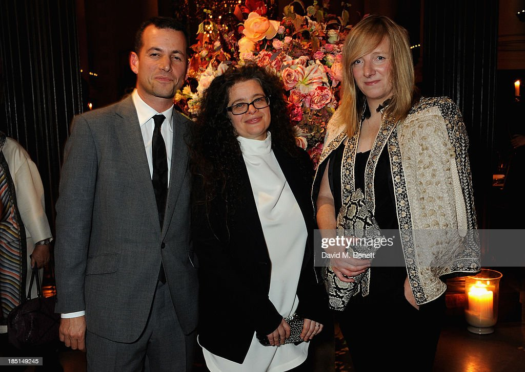 Matthew Slotover, Amanda Sharp and Sarah Burton attend the Alexander McQueen and Frieze Dinner to celebrate the Frieze Art Fair 2013 on October 17, 2013 in London, England.