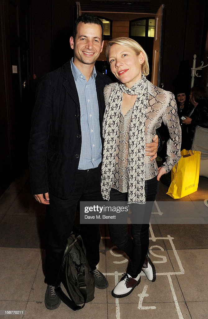 Matthew Slotover (L) and Emily King attend the launch of House of Voltaire, the new pop-up shop from acclaimed London art space Studio Voltaire, at Sketch on November 20, 2012 in London, England.