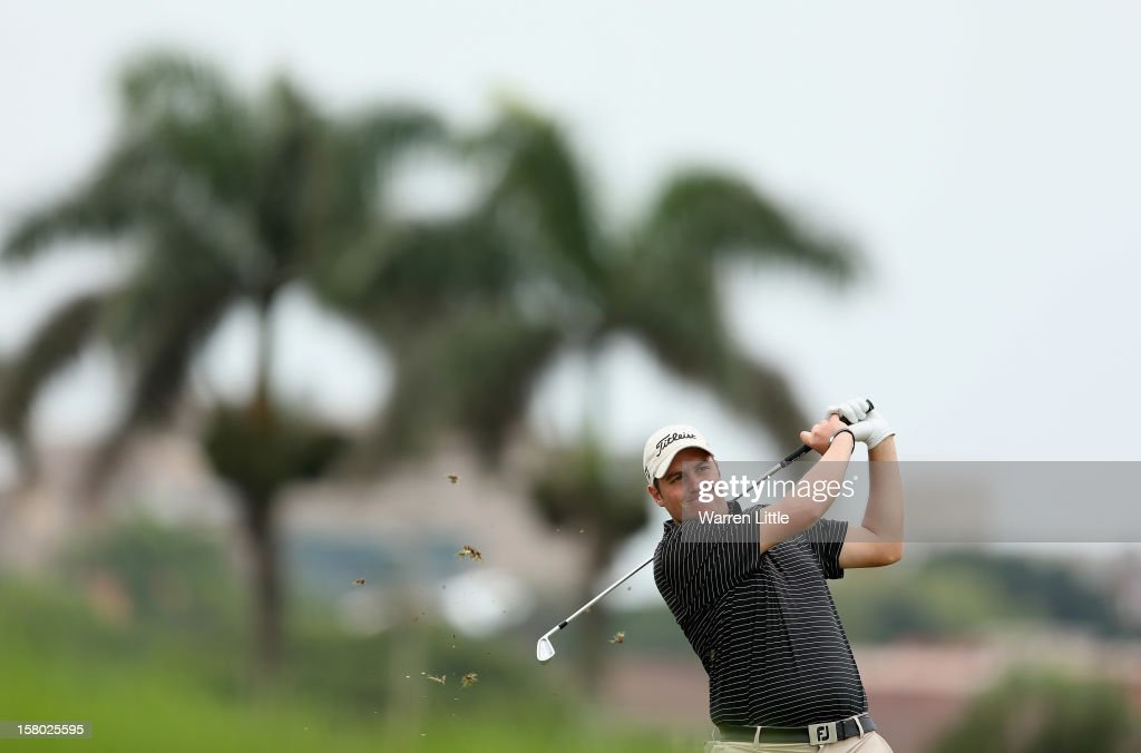 Matthew Southgate of England in action during the second round of The Nelson Mandela Championship presented by ISPS Handa at Royal Durban Golf Club on December 9, 2012 in Durban, South Africa.