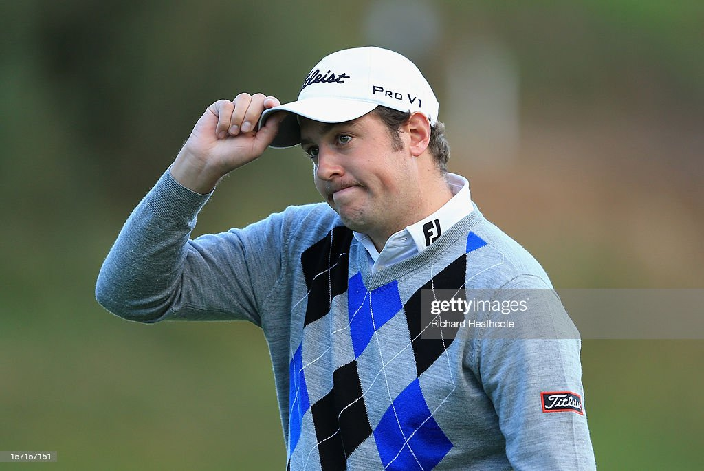 Matthew Southgate of England putts on the 18th green during the final round of the European Tour Qualifying School Finals at PGA Catalunya Resort on November 29, 2012 in Girona, Spain.