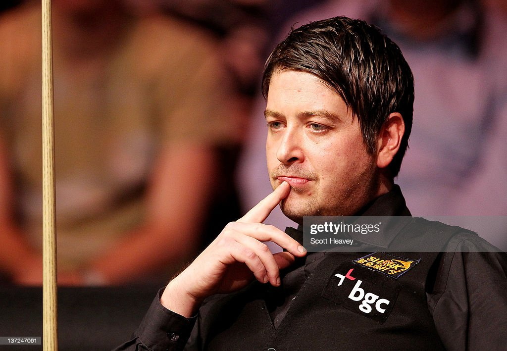 Matthew Stevens during his match with John Higgins during day three of the The Masters at Alexandra Palace on January 17, 2012 in London, England.