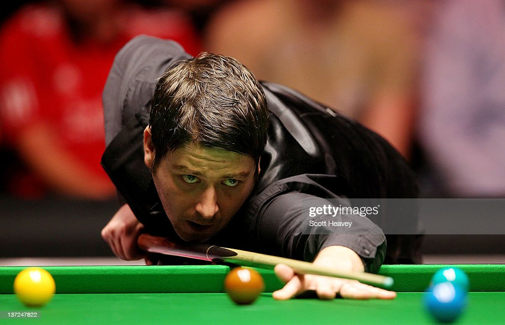 Matthew Stevens in action during his match with John Higgins during day three of the The Masters at Alexandra Palace on January 17, 2012 in London, England.
