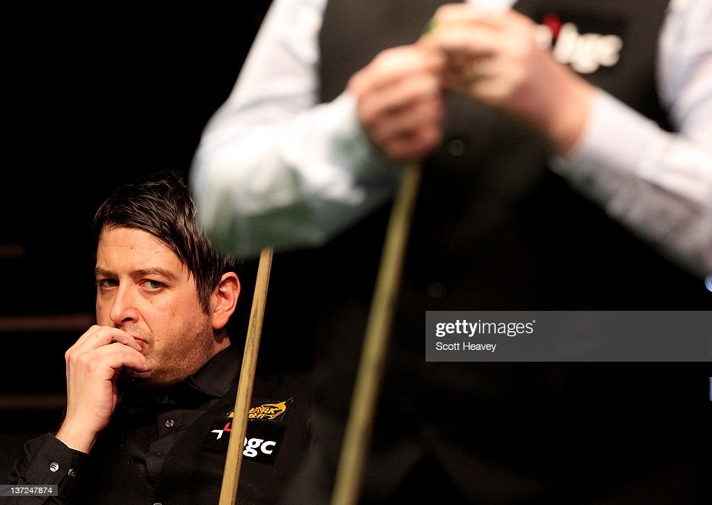 Matthew Stevens looks on during his match with John Higgins during day three of the The Masters at Alexandra Palace on January 17, 2012 in London, England.
