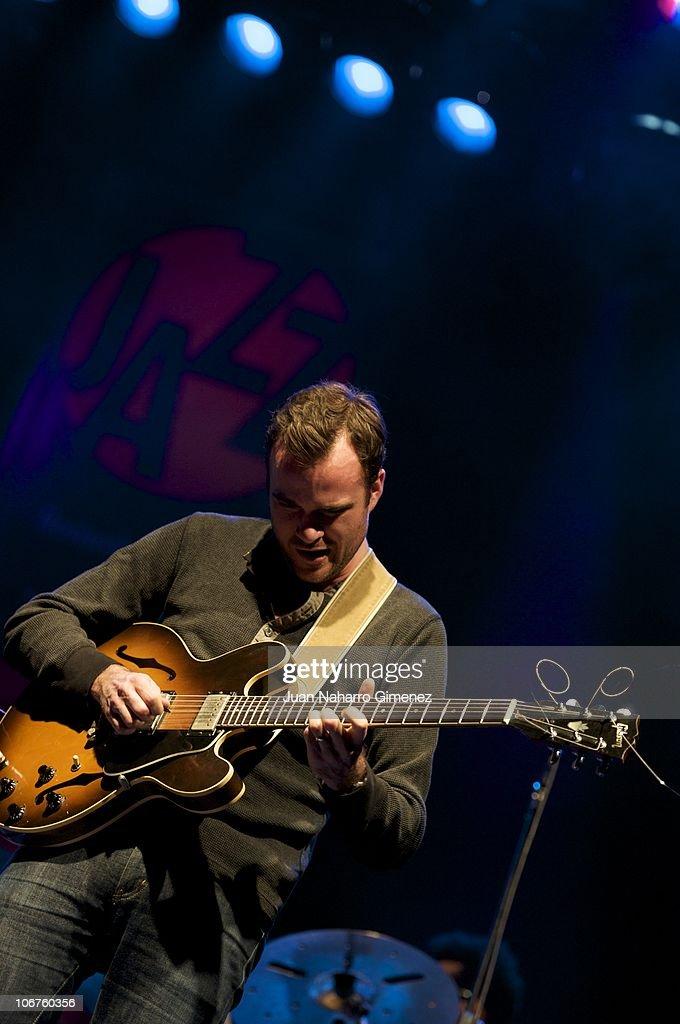 Matthew Stevens, of the band Christian Scott Quintet, performs in the 'XXVII Festival Jazz Madrid 2010' at Teatro Fernan Gomez on November 10, 2010 in Madrid, Spain.