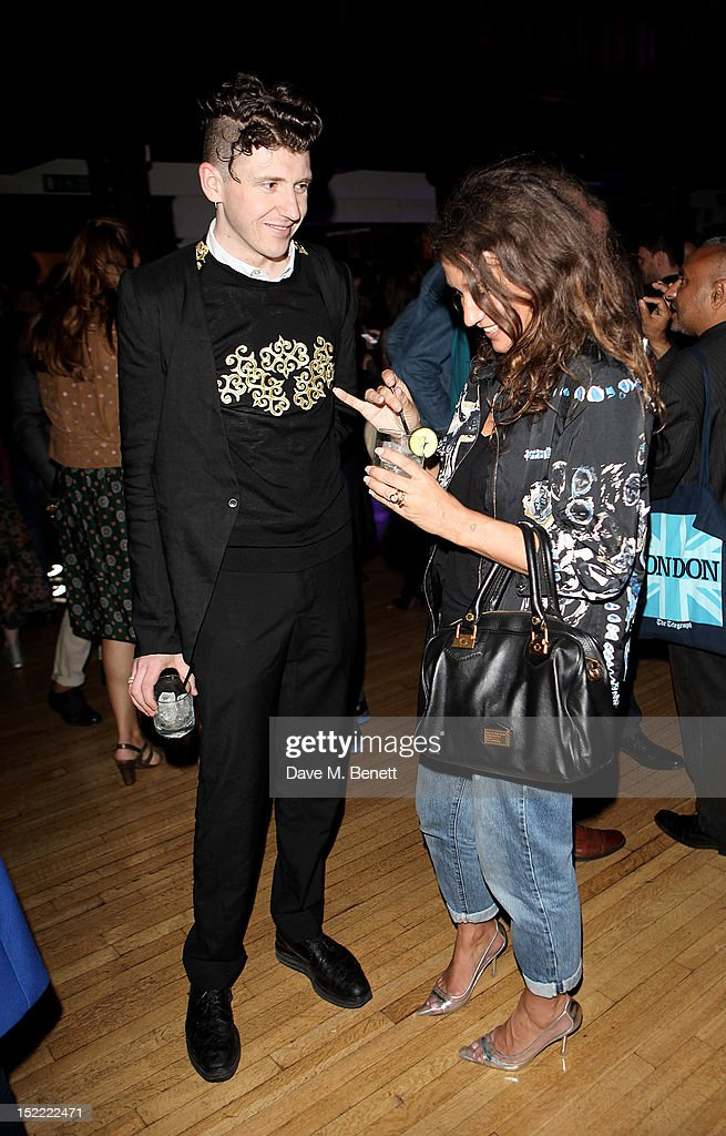 Matthew Stone and Lulu Kennedy attend the Liberty Kenzo Party with purple FASHION Magazine and Belvedere Vodka during London Fashion Week Spring...