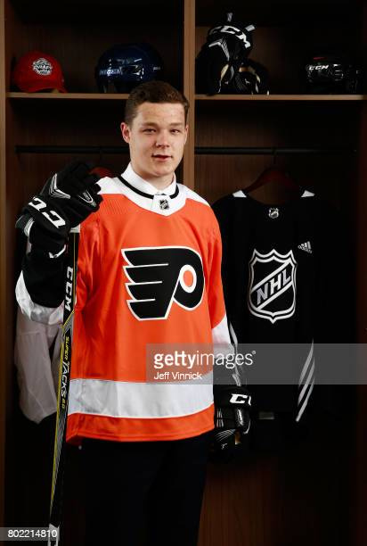 Matthew Strome 106th overall pick of the Philadelphia Flyers poses for a portrait during the 2017 NHL Draft at United Center on June 24 2017 in...