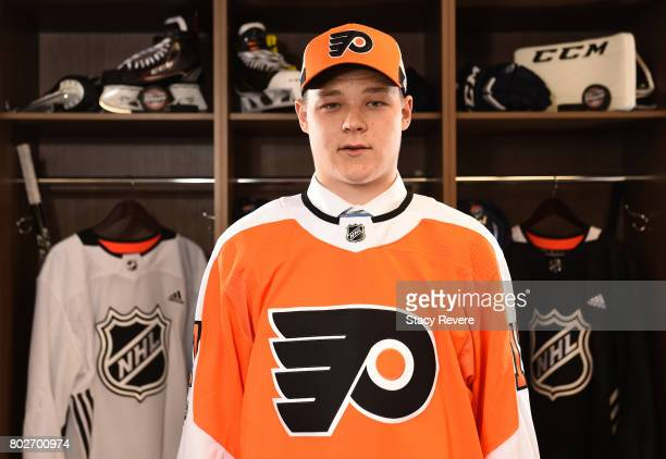 Matthew Strome 106th overall pick of the Philadelphia Flyers poses for a portrait during the 2017 NHL Draft at the United Center on June 24 2017 in...