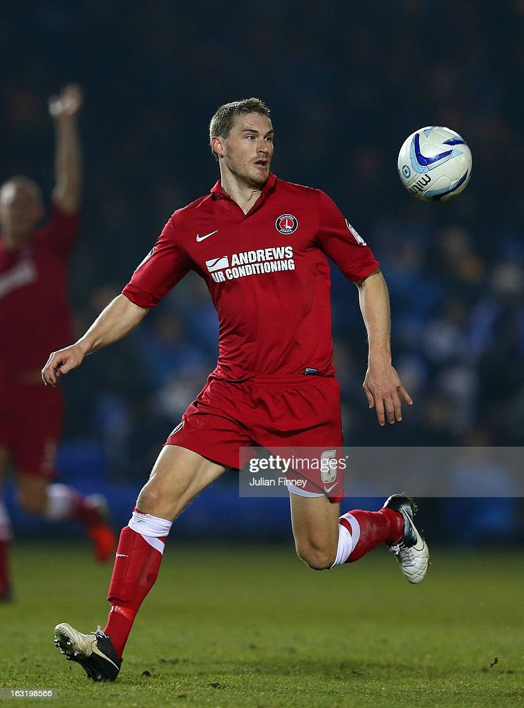 Matthew Taylor of Charlton in action during the npower Championship match between Peterborough United and Charlton Athletic at London Road Stadium on March 5, 2013 in Peterborough, England.