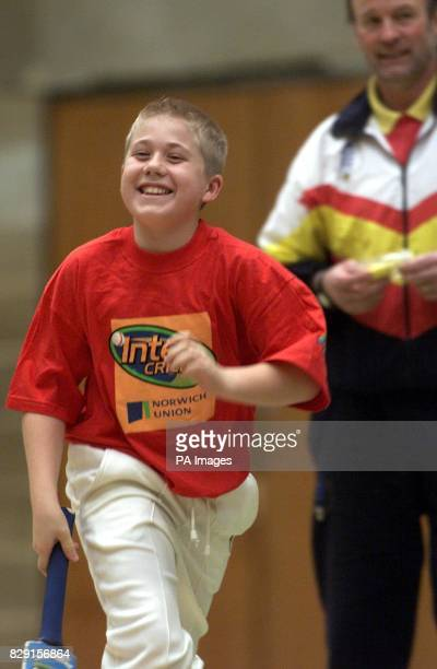 Matthew Terry of the Thetford side during a warm up before the match Thetford eventually won during the Norwich Union Cricket Tournament Thetford...