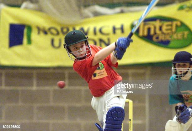 Matthew Terry plays a shot for Thetford Schools the eventual winners during the Norwich Union Cricket Tournament Thetford Norfolk