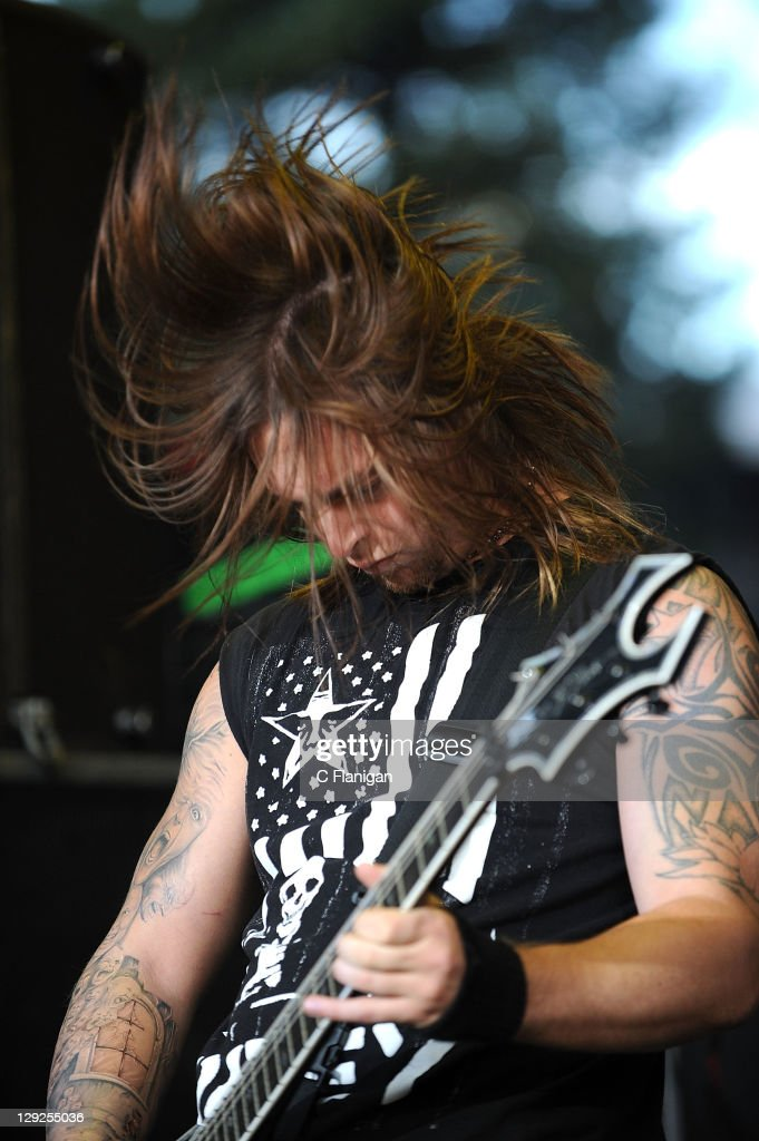 Matthew Tuck of Bullet For My Valentine performs during the 2011 Rockstar Energy Uproar Festival at Shoreline Amphitheatre on October 14, 2011 in Mountain View, California.