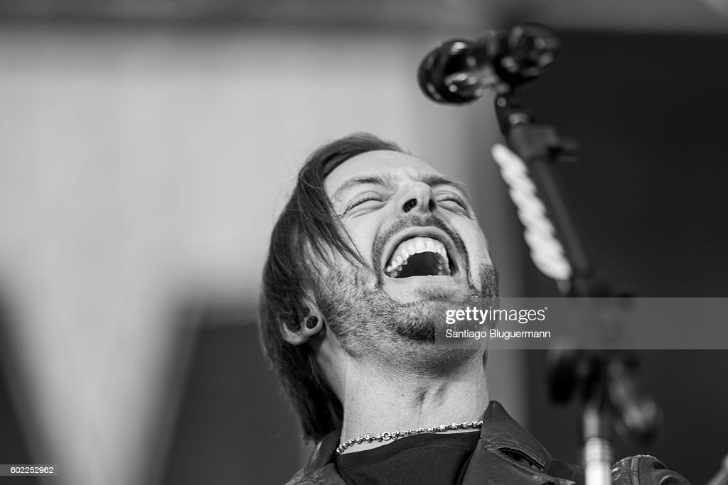 Matthew Tuck of Bullet For My Valentine sings during a show as part of the Maximus Festival at Parque de la Ciudad on September 10, 2016 in Buenos Aires, Argentina.