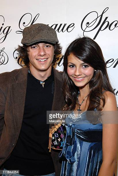 Matthew Underwood and Victoria Justice during Read To Succeed Literacy Gala at Renaissance Hollywood Hotel in Hollywood California United States
