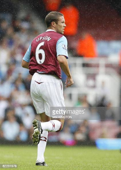 Matthew Upson of West Ham is pictured during the The Bobby Moore Cup between West Ham and Villarreal at Upton Park in London on August 9 2008 AFP...