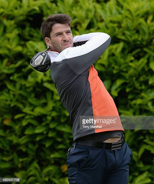 Matthew Veall of Seacroft Golf Club plays his first shot on the 1st Tee during the Powerade PGA Assistants' Championship Final at The Covenrty Golf...