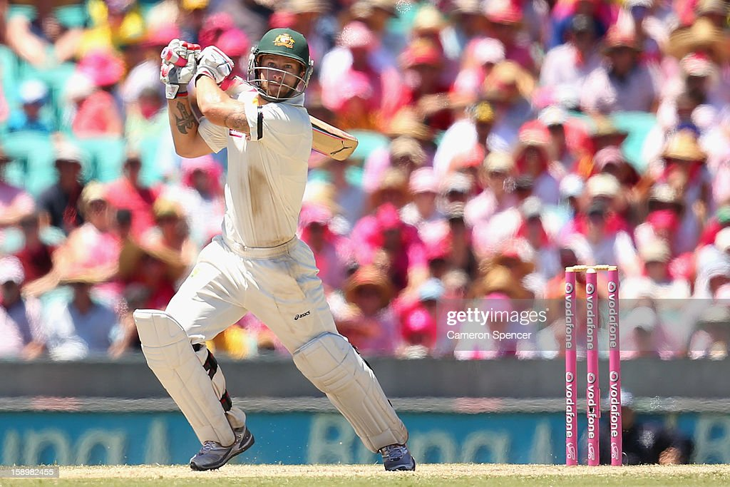 Matthew Wade of Australia bats during day three of the Third Test match between Australia and Sri Lanka at Sydney Cricket Ground on January 5, 2013 in Sydney, Australia.