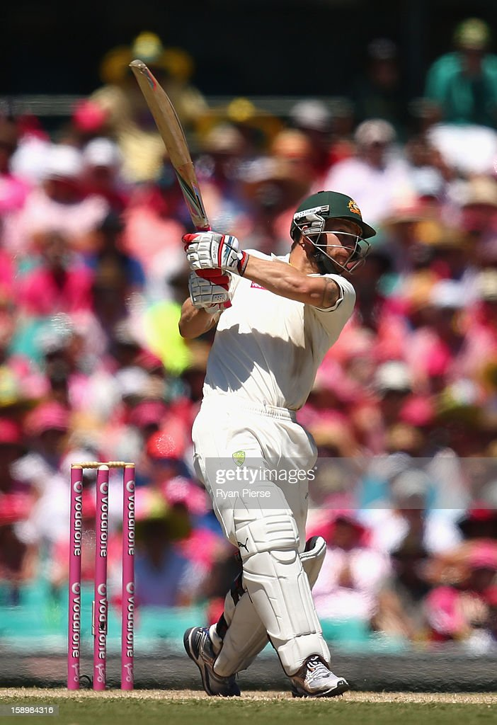 Matthew Wade of Australia bats during day three of the Third Test match between Australia and Sri Lanka at Sydney Cricket Ground on January 5, 2013 in Sydney, Australia.