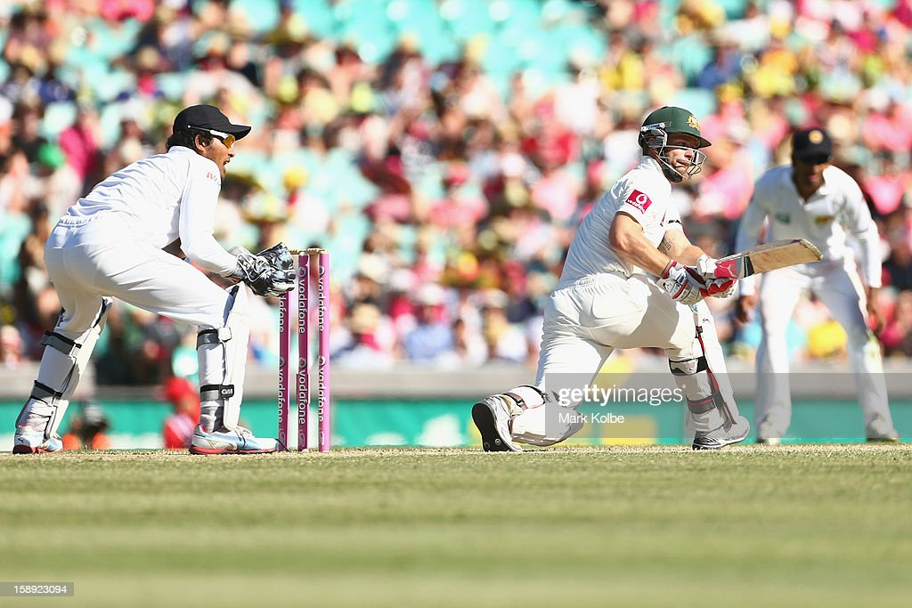 Matthew Wade of Australia bats during day two of the Third Test match between Australia and Sri Lanka at Sydney Cricket Ground on January 4, 2013 in Sydney, Australia.