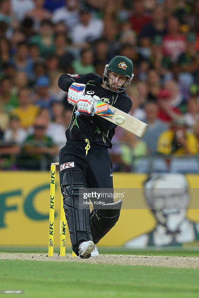 <a gi-track='captionPersonalityLinkClicked' href=/galleries/search?phrase=Matthew+Wade&family=editorial&specificpeople=724041 ng-click='$event.stopPropagation()'>Matthew Wade</a> of Australia bats during game three of the International Twenty20 series between Australia and England at ANZ Stadium on February 2, 2014 in Sydney, Australia.
