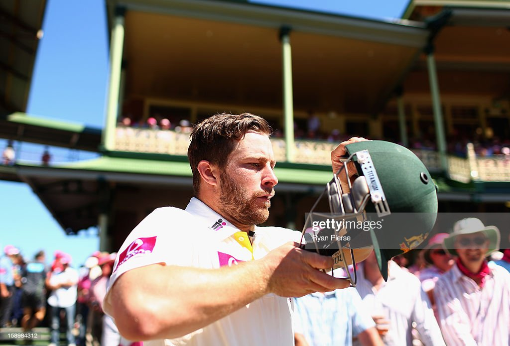 Matthew Wade of Australia prepares to bat during day three of the Third Test match between Australia and Sri Lanka at Sydney Cricket Ground on January 5, 2013 in Sydney, Australia.