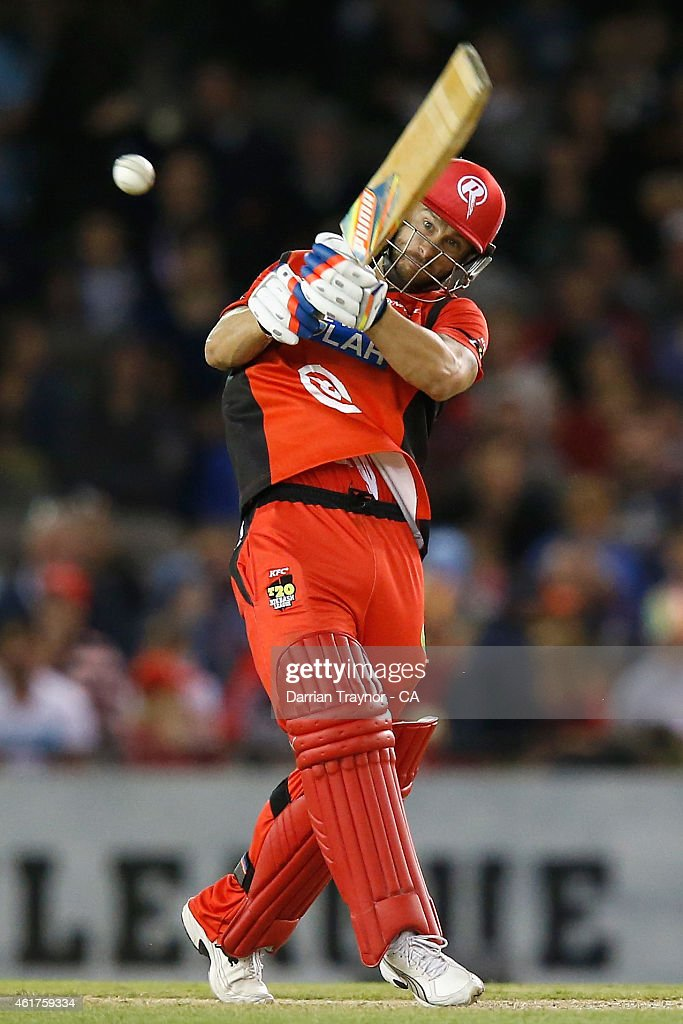 Matthew Wade of the Melbourne Renegades bats during the Big Bash League match between the Melbourne Renegades and the Adelaide Strikers at Etihad Stadium on January 19, 2015 in Melbourne, Australia.